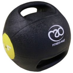 medecine ball double grip 4kg fitness mad