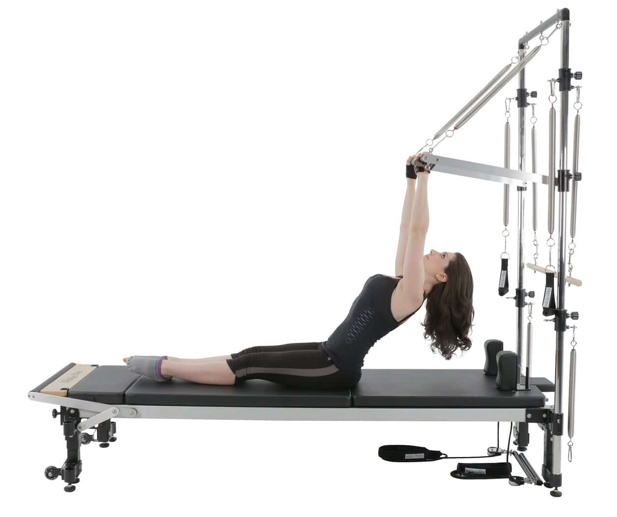 Align Pilates Combo Pilates Chair Ii Flat Packed: C2_Pro_half_cad_action
