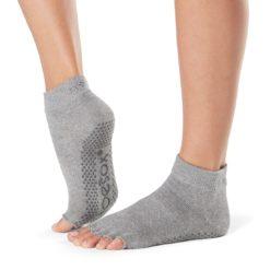 Chaussettes à orteils séparés Half Toe Ankle Heather Grey - Stelvoren