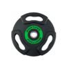 Disque caoutchouc olympique de 5kg avec poignées ergonomiques