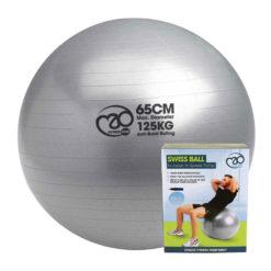 Swissball avec pompe 125kg 65cm
