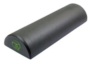 foam roller noir demi cylindre fitness mad