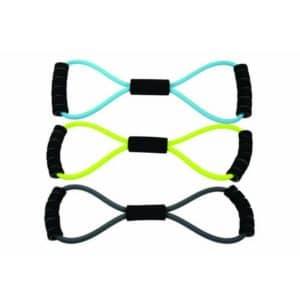 Le Figure 8 Resistance Band de Fitness-Mad a la particularité de ne nécessiter que très peu de longueur de latex pour constituer l'accessoire de fitness parfait, polyvalent et adaptable
