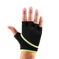 gants pilates antidérapant lime dos