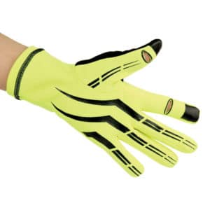 gants de running fluorescents