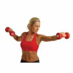 Les haltères en néoprène de 5 kg de Fitness-Mad sont particulièrement résistants et adaptés à une utilisation en salle de sport.