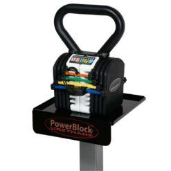 L'haltère Kettleblock 20 de 2 à 9 kg remplace 5 Kettlebells standards et n'ocuppe qu'1/5ème de l'espace réduisant ainsi l'espace dédié aux haltères de 70%