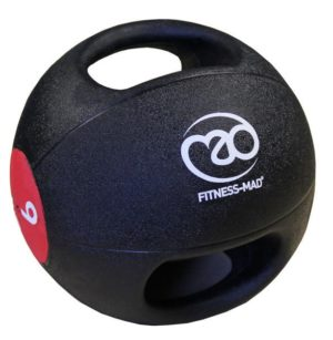 medecine ball double grip 9kg fitness mad