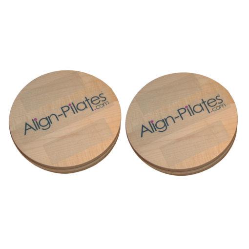 Paire de disques rotatifs de Pilates 32cm - Stelvoren