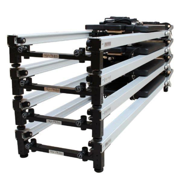 Pack de 4 reformers Pilates C2-PRO Certifiés ISO20957-1 Class S, Usage Intensif, Finition et Cadre Aluminium. Installation des Reformers incluse!
