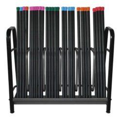 Le rack pour barres lestées de Fitness-Mad permet de stocker plus de 50 barres