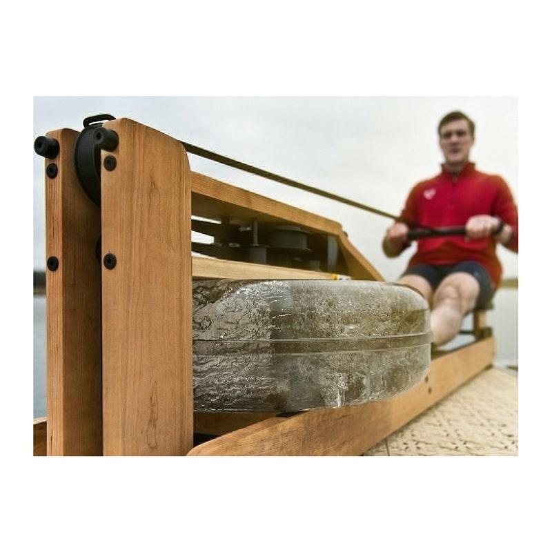 rameur waterrower double rail s4 en ch ne r sistance eau avec roue d inertie brevet e. Black Bedroom Furniture Sets. Home Design Ideas