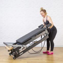 Reformer de pilates pliable avec roues de déplacement