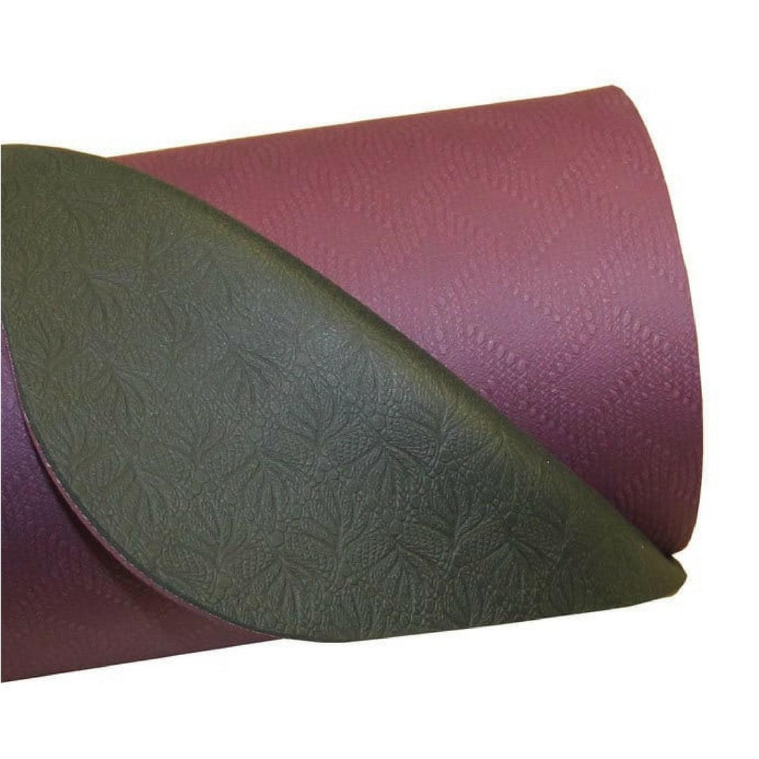 tapis de yoga 4mm evolution aubergine et gris yoga mad stelvoren. Black Bedroom Furniture Sets. Home Design Ideas