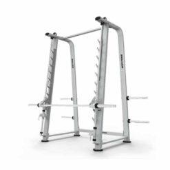 Notre rack smith machine est équipé d'une barre guidée de compétition à usage intensif