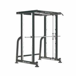 Révolutionnaire et efficace, cette smith machine permet de travailler avec une barre guidée en verticale comme en horizontale!