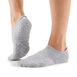 chaussettes savvy stone de tavi noir pour le pilates et le yoga