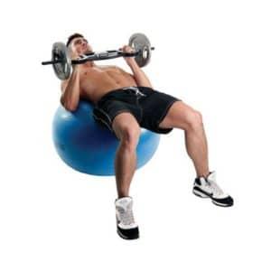 Le Swiss Ball 300kg de 65 cm de diamètre de Fitness-Mad est particulèrement adapté à une utilisation intensive