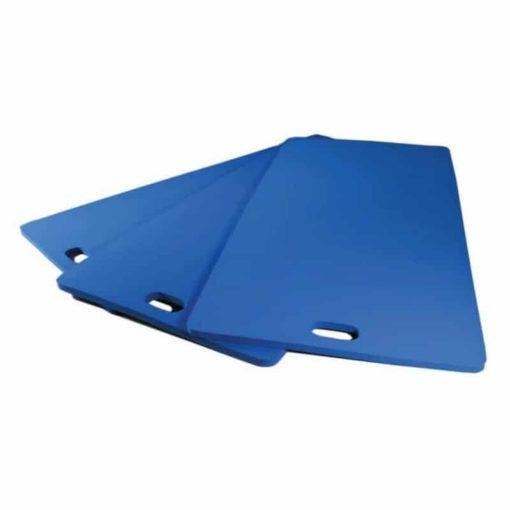 Ce tapis de gym est pratique grâce à sa poignée de transport et confortable car il est fabriqué avec une mousse EVA haute densité à mémoire de forme