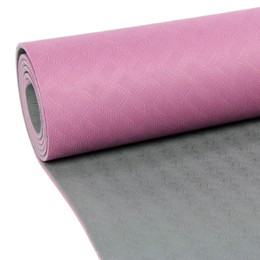 Tapis de Yoga 4mm Evolution Yoga Mat aubergine/gris - Stelvoren