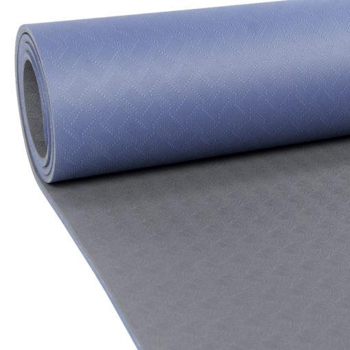 Tapis de Yoga 4mm Evolution Yoga Mat bleu/gris