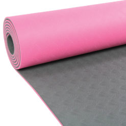 Tapis de Yoga 4mm Evolution Yoga Mat rose/gris