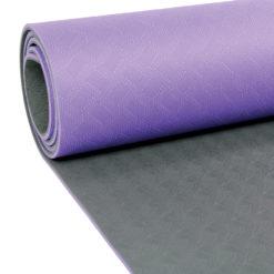 Tapis de Yoga 4mm Evolution Yoga Mat violet/gris