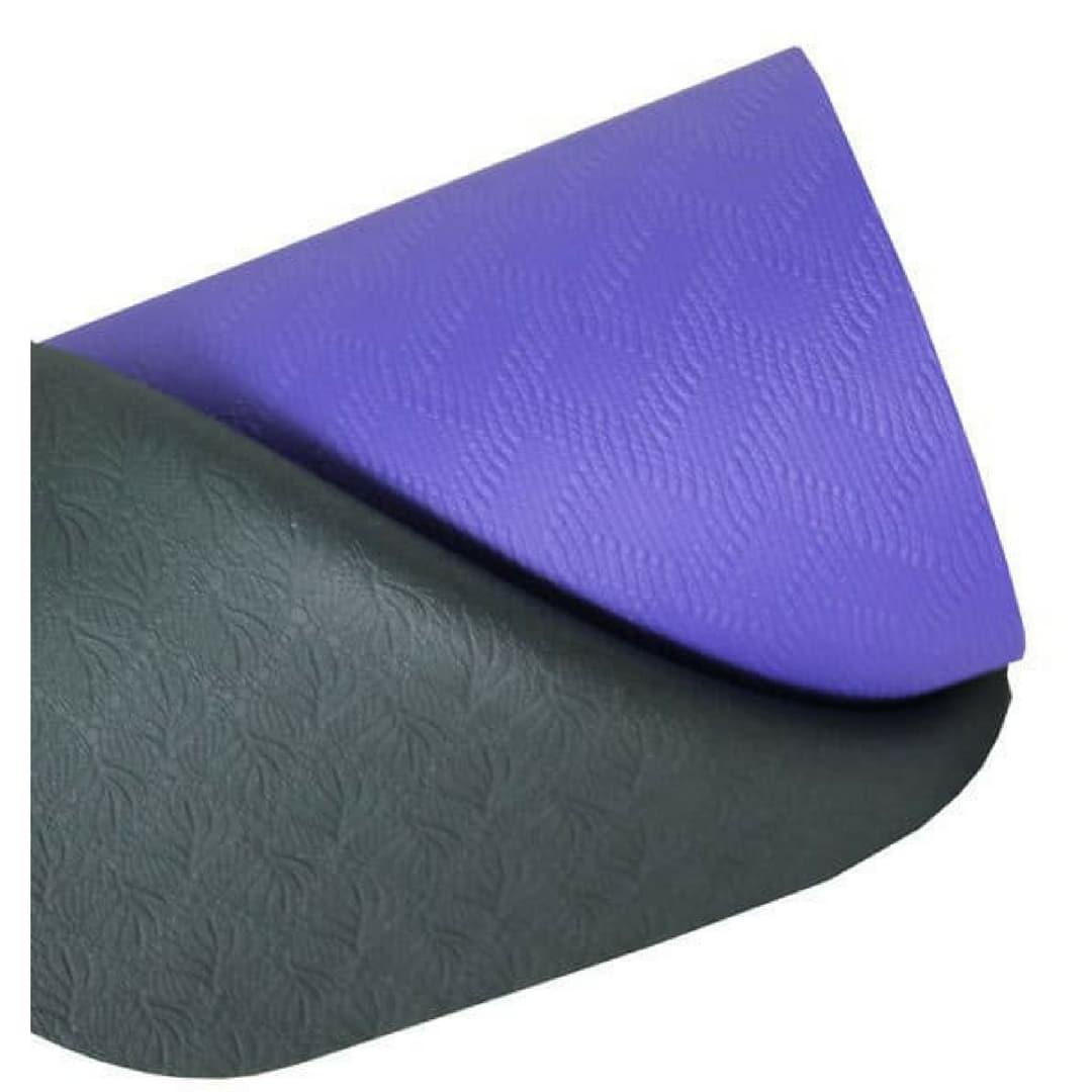 tapis de yoga 4mm evolution yoga mat violet gris stelvoren. Black Bedroom Furniture Sets. Home Design Ideas