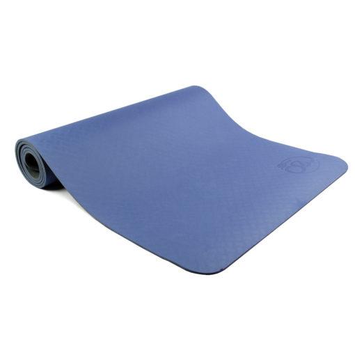 Tapis de Yoga 6mm Evolution Yoga Mat bleu/gris