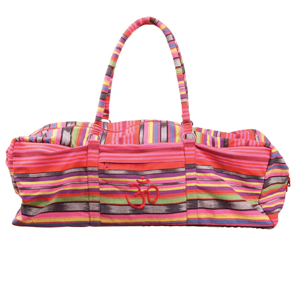 019ab22be4 Sac Deluxe pour kit complet de Yoga Stripy Pink Yoga-Mad - Stelvoren