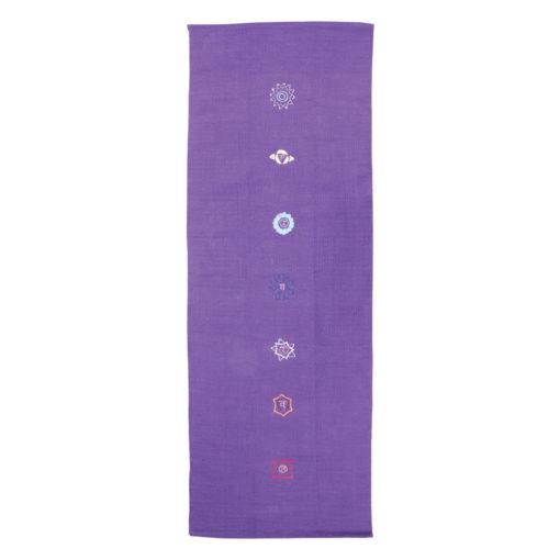 Tapis de Yoga en coton modèle chakra - purple - Stelvoren