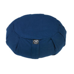 Grand coussin de méditation Zafu plissé Bleu Marine