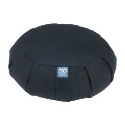 Grand coussin de méditation Zafu plissé Noir