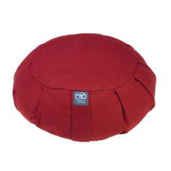 Grand coussin de méditation Zafu plissé Rouge
