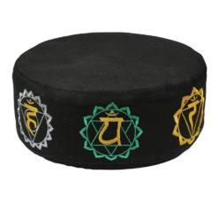 Grand coussin de méditaion zafu à motifs chakras