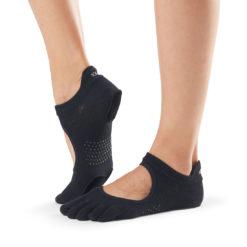 chaussettes de danse à orteils de Toesox Full Toe Prima Bellarina Black - Stelvoren