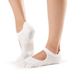 chaussettes de danse à orteils séparés Toesox Full Toe Prima Bellarina Sweet Pea