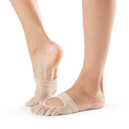 chaussettes de danse Full Toe Relevé Nude de Toesox - Stelvoren