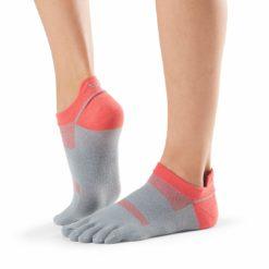 chaussettes de sport toesox lolo papaya