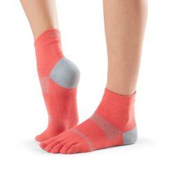 chaussettes de sport toesox minnie papaya