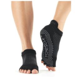 chaussettes de yoga pilates antiderapantes half toe toesox