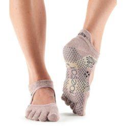 chaussettes toesox orteils séparés antidérapantes yoga pilates