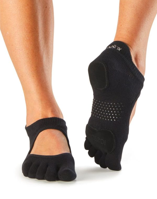chaussettes antiderapantes a doigt de pies separes yoga pilates toesox