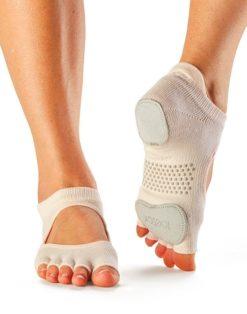 chaussettes de danses protégeant les pieds toesox