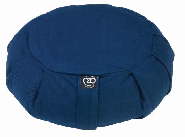 grand coussin de m ditation zafu pliss bleu marine stelvoren. Black Bedroom Furniture Sets. Home Design Ideas