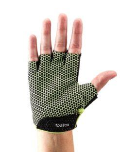 gants pilates antidérapant lime face