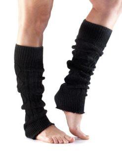 jambieres guetre de danse noir toesox