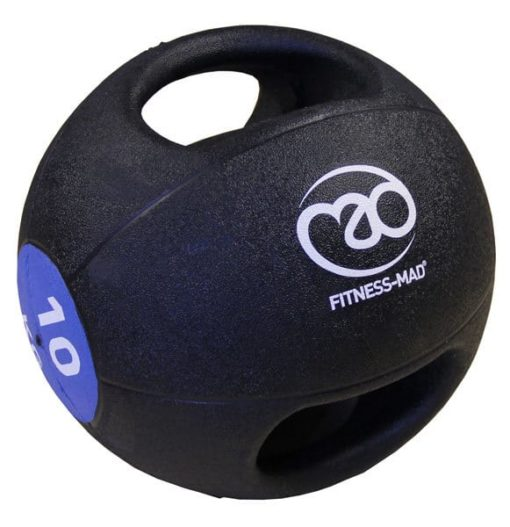 medecine ball double grip 10kg fitnessmad