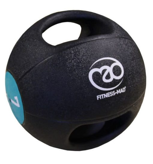 medecine ball double grip 7kg fitness mad