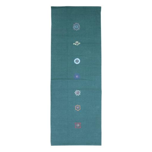 Tapis de yoga coton chakras - Stelvoren